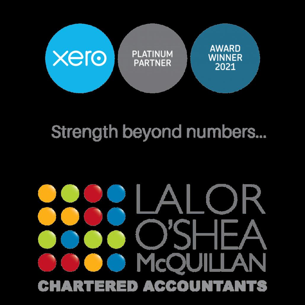 Lalor O'Shea McQuillan Xero Award Winners and Platinum Partners